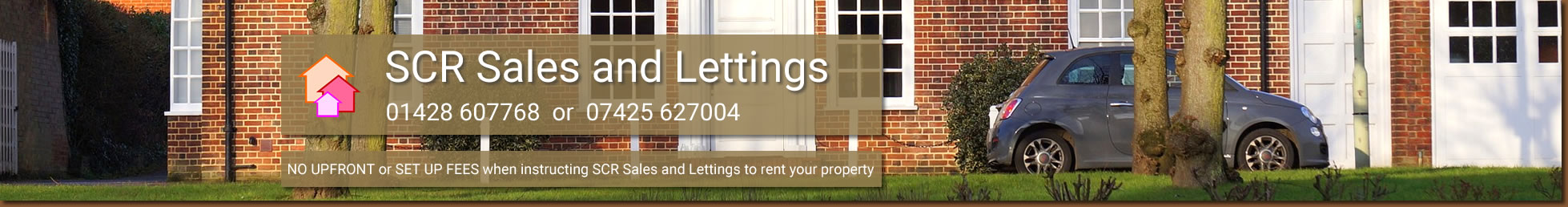 SCR Sales and Lettings is an established independent sales and lettings agent offering sales lettings and property management in Hampshire Surrey and all local villages including Guildford Farnham Liphook Petersfield Bordon Headley and Haslemere